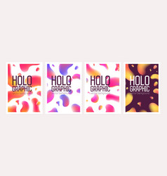 bundle of vertical holographic backgrounds or vector image