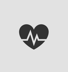 cardio icon heart symbol for medical clinic logo vector image