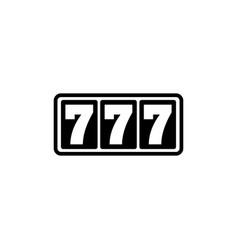 casino slot machine 777 jackpot flat icon vector image