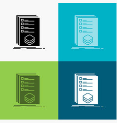 Categories check list listing mark icon over vector