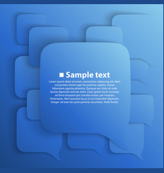 Chat background blue vector
