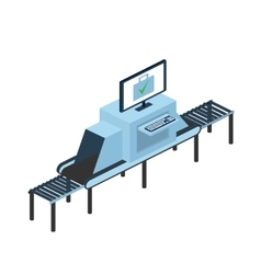 Check luggage for airport or train station vector