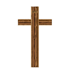 Christian cross isolated icon vector