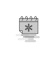 christmas calendar web icon flat line filled gray vector image