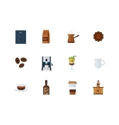 Coffee shop design elements vector