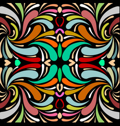 colorful paisley seamless pattern floral vector image