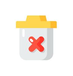 Delete flat color icon vector