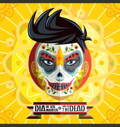 Dia De Los Muertos Day Of The Dead Face Painting vector image