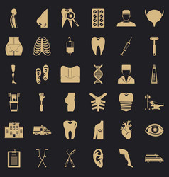 Doctor maintenance icons set simple style vector