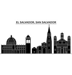 El salvador san salvador architecture city vector