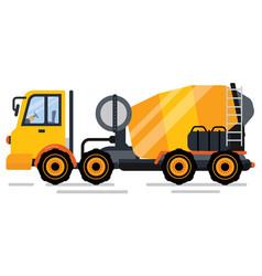 Engineering machine concrete mixer auto vector