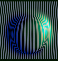 eps10 abstract wavy colored stripes background vector image