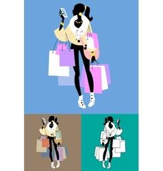 Fashionista Shopaholic calls vector