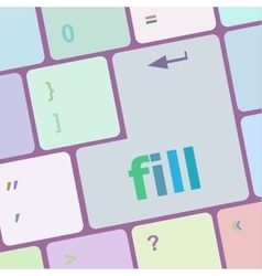 Fill words on computer keyboard button vector