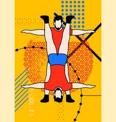 Fitness sport typographic vintage grunge poster vector