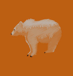 flat shading style icon bear vector image