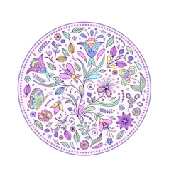 floral hand drawn colorful pattern vector image