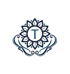 flower elegance initial t vector image