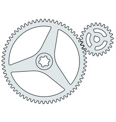 Gear pair vector image