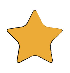 Gold star decoration elegant element vector