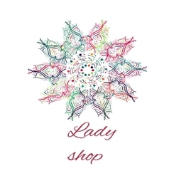 Hand drawn artwork concept for shop vector image