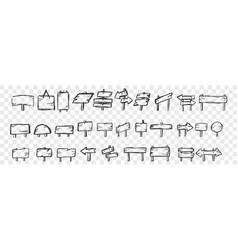 hand drawn tablets doodle set vector image