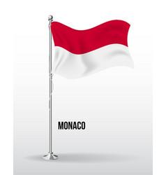 High detailed flag monaco vector