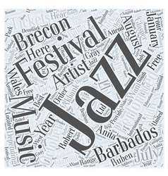 Jazz Music Festivals Word Cloud Concept vector