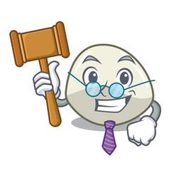judge mozzarella cheese isolated on mascot cartoon vector image