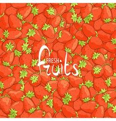 Juicy strawberries vector