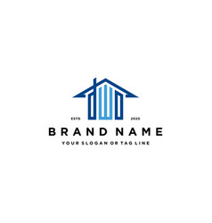 Letter dwo home roof logo design and business card vector