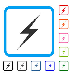 Lightning framed icon vector
