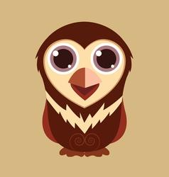 Little owl cute cartoon abstract prehistoric color vector