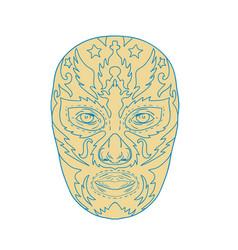 luchador lucha libre mask vector image