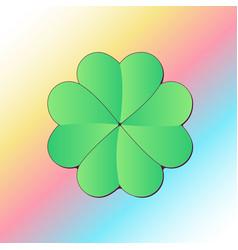 lucky four leaf clover vector image