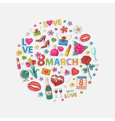 March circle vector