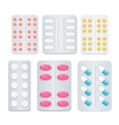 medicine painkiller pills vector image