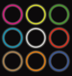 neon colored circles vector image