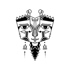 original hand drawing abstract black ink human vector image