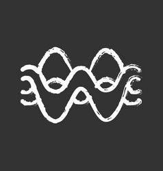 overlapping waves chalk icon abstract energy vector image