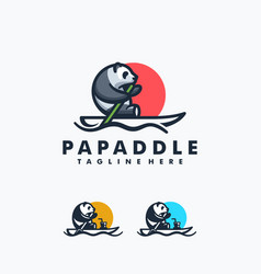 panda paddle design concept template vector image