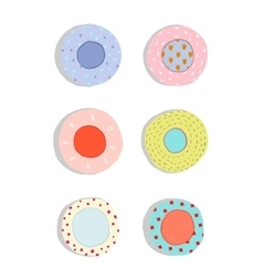 Plates and Dishes Ceramics Colorful Fun Set vector