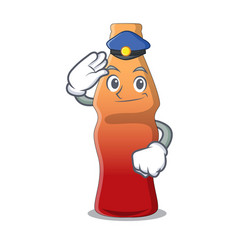 Police cola bottle jelly candy character cartoon vector