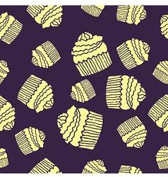 Purple cake pattern vector