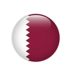 Qatar flag on button vector
