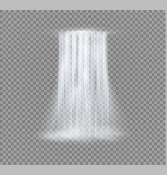 Realistic transparent nature stream of waterfall vector