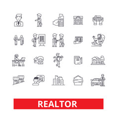 Realtor broker negotiator real estate agent vector