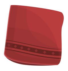 Red handkerchief icon cartoon style vector