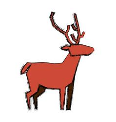 Reindeer christmas animal vector