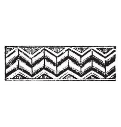 Romanesque motive conspicuous vintage engraving vector